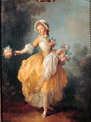 Rococo painting reproductions: Dancer with a Bouquet