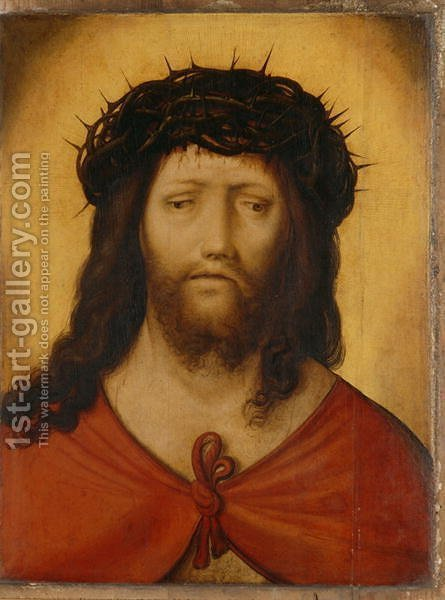 Christ with Crown of Thorns, c.1525 by Hans Leonhard Schaufelein - Reproduction Oil Painting