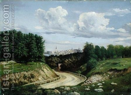 View of Tallinn by Alexander Georg Schlater - Reproduction Oil Painting