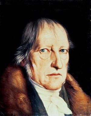 Neo-Classical painting reproductions: Portrait of Georg Wilhelm Friedrich Hegel 1770-1831, 1825
