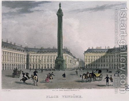 Place Vendome, 1832 by (after) Schmidt, Bernhard - Reproduction Oil Painting