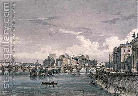 The Pont Neuf, 1832 by (after) Schmidt, Bernhard - Reproduction Oil Painting