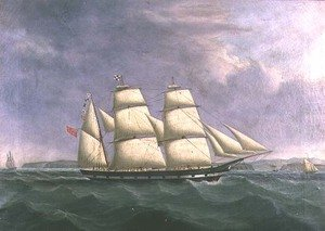 Neo-Classical painting reproductions: The Barque Norfolk off Cork
