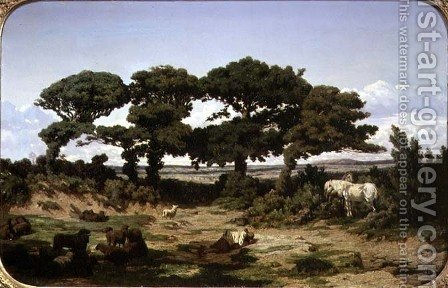 The Oaks of Kertregonnec, c.1869-70 by Alexandre Sege - Reproduction Oil Painting