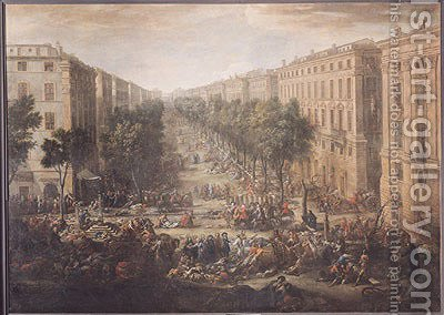View of the Cours Belsunce, Marseilles, During the Plague of 1720, 1721