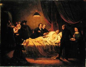 Academic Classicism painting reproductions: The Death of Mazet, 1821