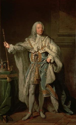 Academic Classicism painting reproductions: George II 1683-1760, 1755