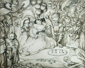 Famous paintings of Fairies: Fairy Concert, c.1830