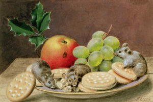 Famous paintings of Desserts: A Christmas Feast for Mice