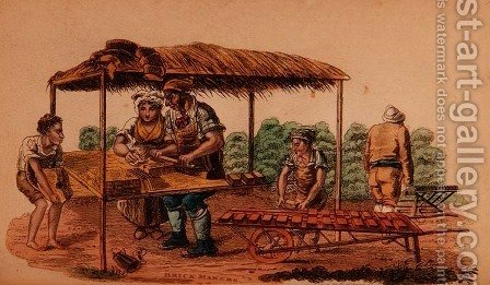 The Brick Maker from Ackermanns World in Miniature by (after) Shoberl, Frederic - Reproduction Oil Painting