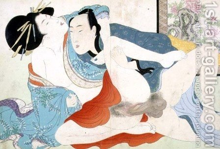 A couple having sex, 1880s-90s by Meiji Shunga - Reproduction Oil Painting