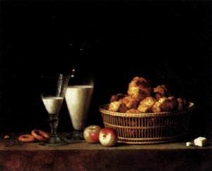 Famous paintings of Dairy & Milk: Still-Life with a Carafe of Barley Wine 1787
