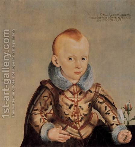 Erdmann August, Crown Prince of Brandenburg-Bayreuth by Heinrich Bollandt - Reproduction Oil Painting