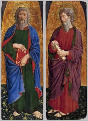 Medieval & Gothic Art painting reproductions: St Philip; St Paul c. 1460