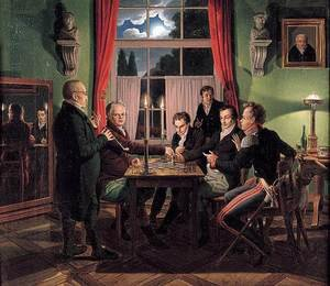Famous paintings of Chess: Chess Players 1818-19