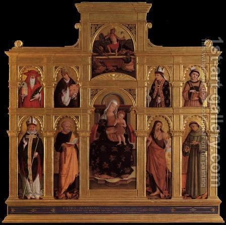 Polyptych by Alemanno Pietro - Reproduction Oil Painting