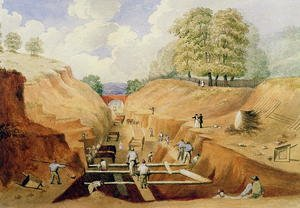 Building the Brighton Railway, 1840