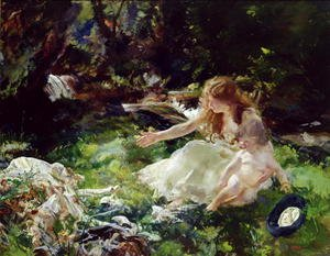 Famous paintings of Fairies: and the fairies ran away with their clothes