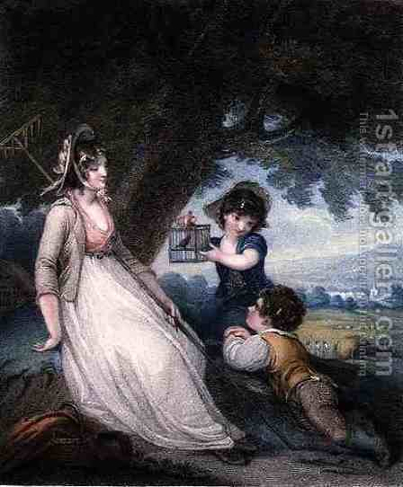 Innocent Captivation, engraved and pub. by Anthony Cardon 1772-1813, 1801 by Henry Singleton - Reproduction Oil Painting