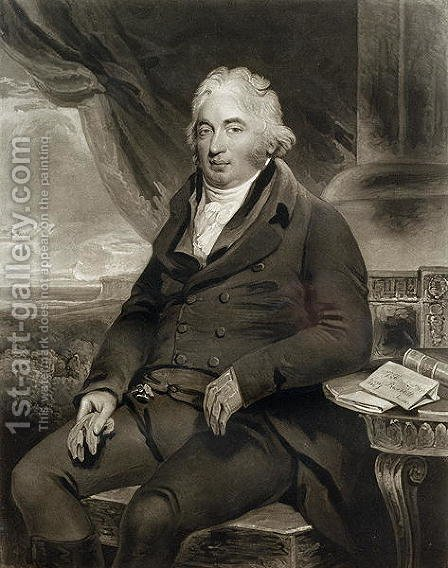 J. Fuller Esq, M.P., engraved by C. Turner, 1808 by Henry Singleton - Reproduction Oil Painting