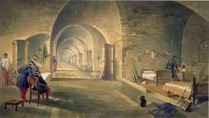 Interior of Fort Nicholas, plate from The Seat of War in the East, pub. by Paul and Dominic Colnaghi and Co., 1856