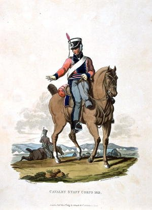 Reproduction oil paintings - Charles Hamilton Smith - Cavalry Staff Corps 1813, from Costumes of the Army of the British Empire, according to the last regulations 1812, engraved by J.C. Stadler, published by Colnaghi and Co. 1812-15