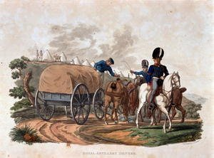 Reproduction oil paintings - Charles Hamilton Smith - Royal Artillery Drivers, from Costumes of the Army of the British Empire, according to the last regulations 1812, engraved by J.C. Stadler, published by Colnaghi and Co. 1812-15