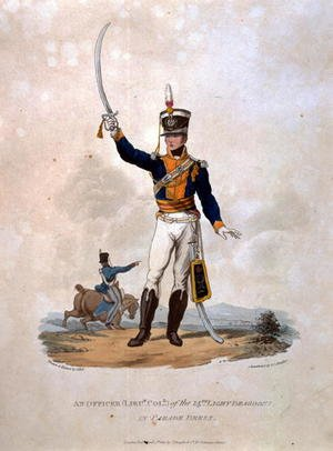 An Officer of the 14th Light Dragoons in Parade Dress, from Costumes of the Army of the British Empire, according to the last regulations 1812, engraved by J.C. Stadler, published by Colnaghi and Co. 1812-15