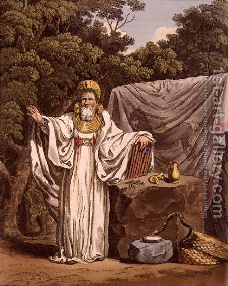Charles Hamilton Smith: An Arch Druid in his Judicial Habit, engraved by Robert Havell 1769-1832 1815 - reproduction oil painting