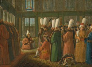 Academic Classicism painting reproductions: The Grand Vizier giving Audience to the English Ambassador