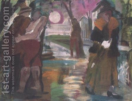 Night on the Outskirts of Town 1931 by Istvan Farkas - Reproduction Oil Painting