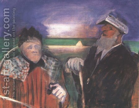 The Aged Sailor and the Old Woman 1936-39 by Istvan Farkas - Reproduction Oil Painting