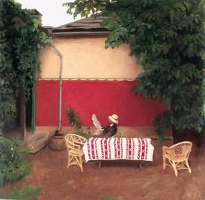 Realism painting reproductions: Red Wall 1910