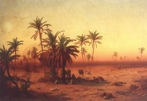 Famous paintings of Camels: Oasis in the Desert 1862