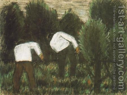 Grass Cutters c. 1927 by Istvan Nagy - Reproduction Oil Painting