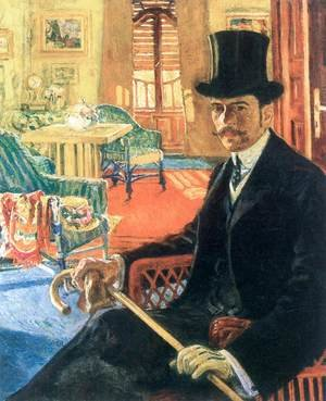 Self-portrait Wearing a Top Hat