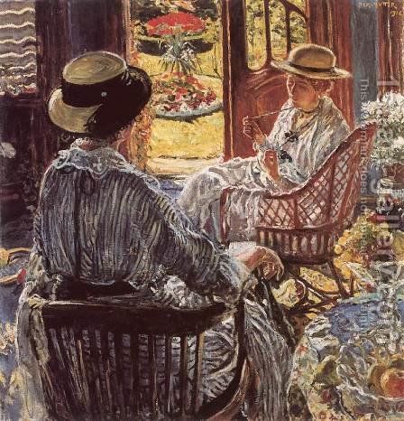 On the Terrace 1916 by Izsak Perlmutter - Reproduction Oil Painting