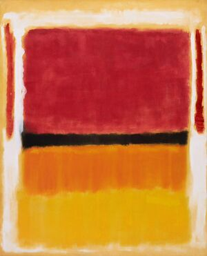 Famous paintings of Abstract: Untitled (Violet, Black, Orange, Yellow on White and Red), 1949