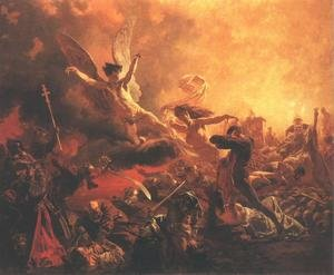 Realism painting reproductions: The Triumph of the Genius of Destruction 1878