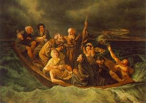 Realism painting reproductions: Lifeboat 1847