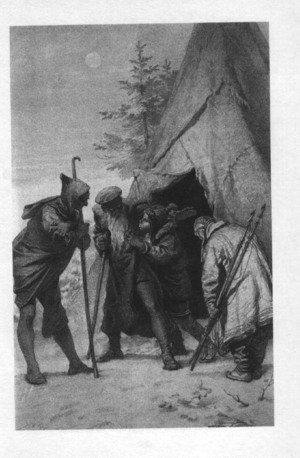 Famous paintings of Tent: Illustration to Imre Madachs The Tragedy of Man- Eskimo Scene Scene 14 1887