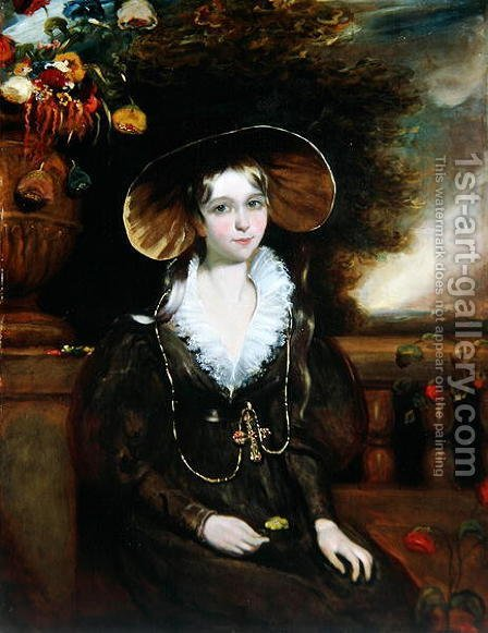Lady Mary Fitzalan Howard, c.1836 by H. Smith - Reproduction Oil Painting
