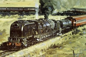 Modernism painting reproductions: Train