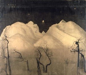 Expressionism painting reproductions: Winter Night in the Mountains, 1901-02