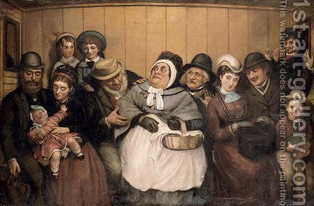 Seats for Five Persons by Abraham Solomon - Reproduction Oil Painting