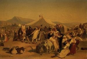 Famous paintings of Tent: A Fair in the Roman Campagna