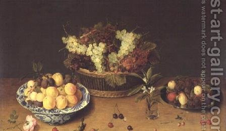 Fruit and Flowers by Isaak Soreau - Reproduction Oil Painting