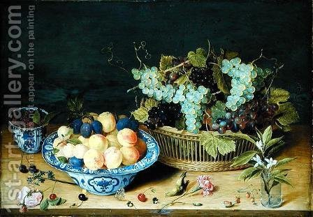 Still Life with Fruit by Isaak Soreau - Reproduction Oil Painting