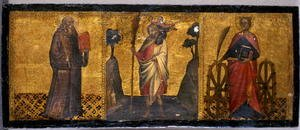 Reproduction oil paintings - Luca Spinello Aretino - St. Benedict, St. Christopher and St. Catherine, c.1400