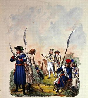 Famous paintings of Tent: Costumes of the Polish Army after 1700 2